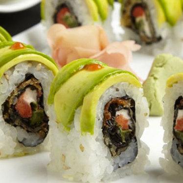 Dragon roll at South Coast Sushi
