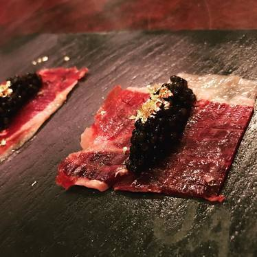 Carpaccio with black caviar at Jaleo by José Andrés