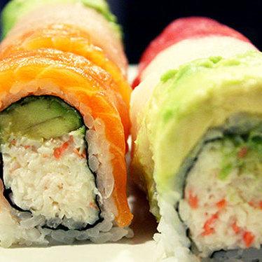 Rainbow roll at Oyaji Restaurant