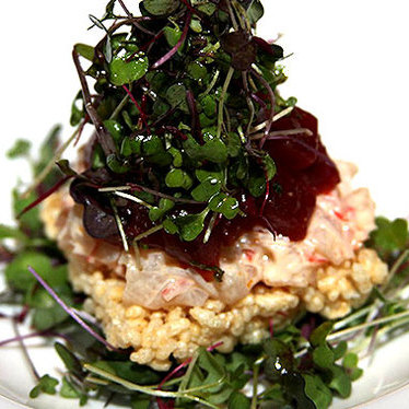 Crispy rice salad at Oishii Too Sushi Bar