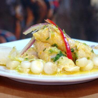 Ceviche de pescado at Rincón Limeño Restaurant