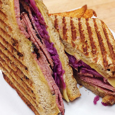 Pastrami sandwich at Mariposa Bakery & Cafe