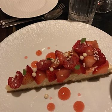 Strawberry cheesecake at Swift & Sons