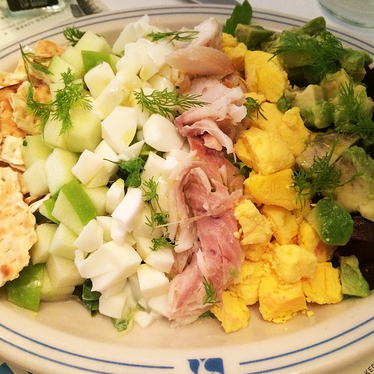 Whitefish & baked salmon salad at Russ & Daughters