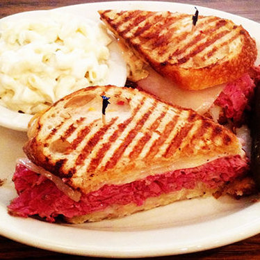 Corned beef Rueben on sourdough at Greenblatt's Delicatessen & Fine Wine Shop