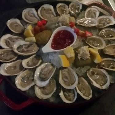 Oyster platter at Baro
