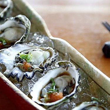 Local Kumamoto oysters at Sushi Kappo Tamura
