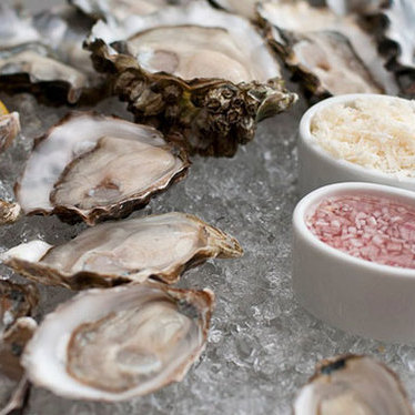 Oysters on the half-shell at The Walrus and the Carpenter
