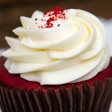 Red velvet cream cheese cupcake at Alliance Bakery