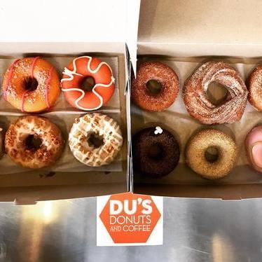 Dozen doughnuts at Du's Donuts