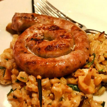 Grilled spicy sausage at Bocca Di Lupo