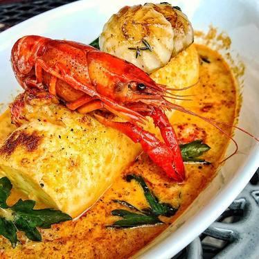 Lobster dish at Grand Cafe