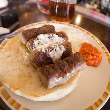 Šiš ćevapi at 4-4-2 Soccer Bar