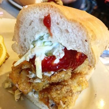 Fried Oyster & Shrimp Po Boy at Mother's Restaurant