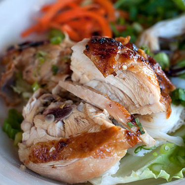 Grilled chicken vermicelli at Ba Bar