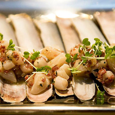 Razor clams a la plancha at Casa Mono / Bar Jamon