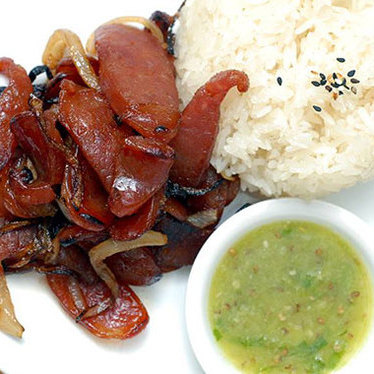 Sautéed Chinese sausage with Thai chili-lime sauce at Kuma Inn