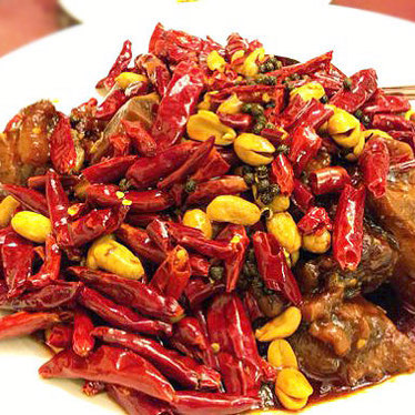 Hot & spicy pig feet at Z & Y Restaurant