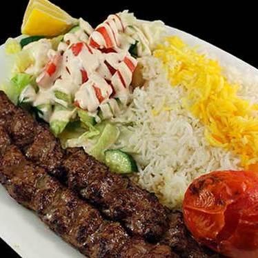 Chelo kebab koobideh at Cazba
