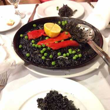 Black Rice with Cuttlefish  at Iberico Pata Negra