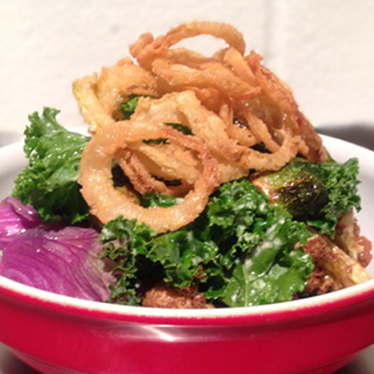 Warm kale salad at The Oakwood Canadian Bistro