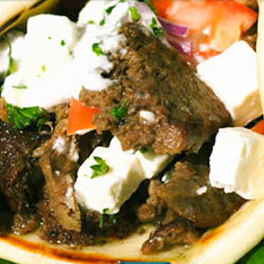 Lamb gyro at Aybla Grill (Mediterranean Cart)