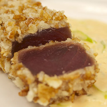Rice cracker crusted tuna at MARKET by Jean-Georges