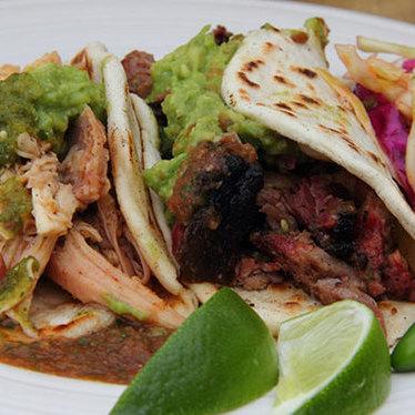 Smoked carnitas tacos at Valentina's Tex Mex BBQ