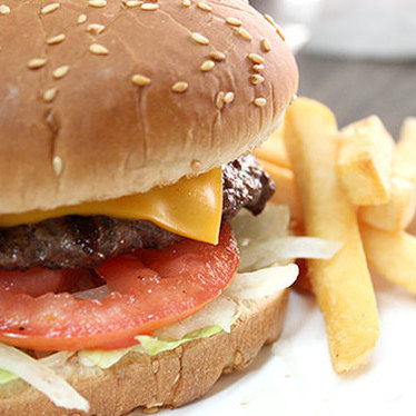 Sam's hamburger at Sam's