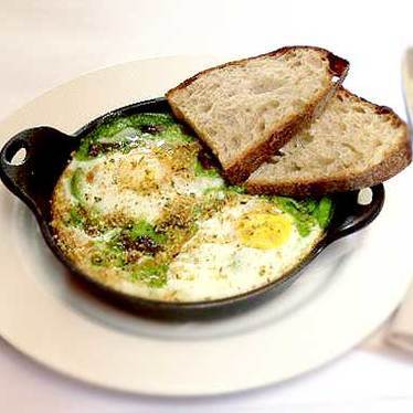 Oeufs en cocotte at Cafe Claude