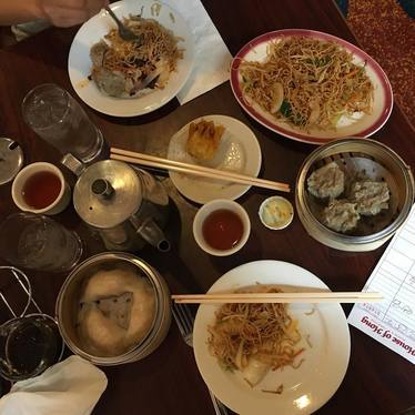 Dumplings and chow mein  at House of Hong