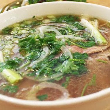 Beef noodle soup at Pho Pasteur