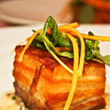Crispy pork belly at Tuck Shop