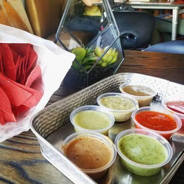 chips and salsa x7!  at BOCA Tacos