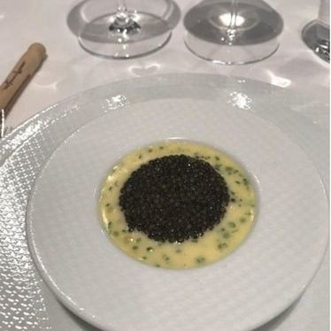 Oyster and pearls at The French Laundry