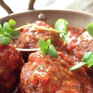 Meatballs, San Marzano tomato at Soho House Toronto