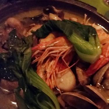 Seafood toban yaki at Morimoto