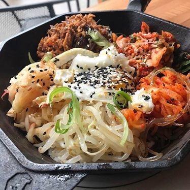 Smoked pork bibimbap at Kim Jong Smokehouse