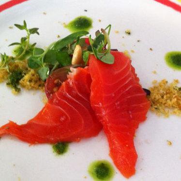 Steelhead salmon sashimi at Taqueria del Sol