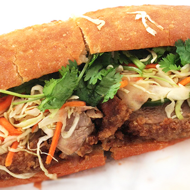 Crispy duck bánh mì at Cafe Bunn Mi