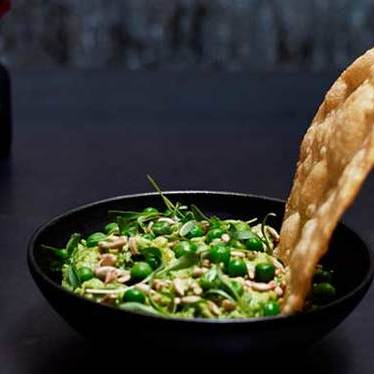 Spring pea guacamole at ABC Cocina