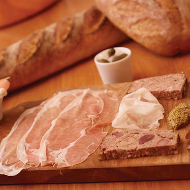 Charcuterie board at Café Boulud