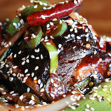 General Tso's veal rib at Mission Chinese Food