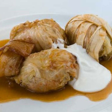 Cabbage rolls at Boulette's Larder