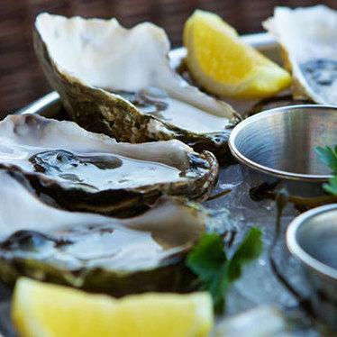 Oyster sampler at The Lobster