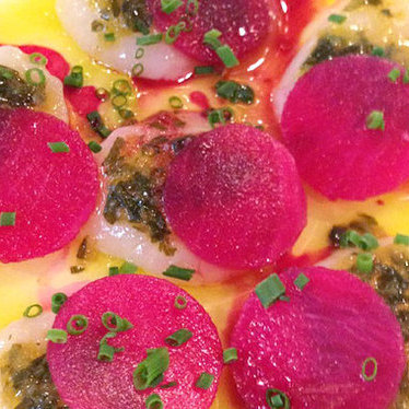 Scallop crudo at Fork