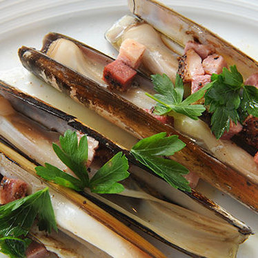 Local razor clams at Island Creek Oyster Bar