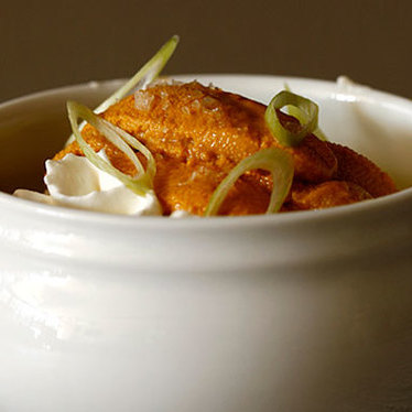 Sea urchin and warm scrambled eggs at Vernick Food & Drink