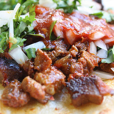 Tacos at Azteca Market