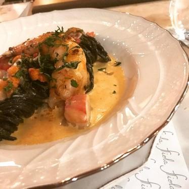 Black pasta with vegetables and fish at Fiola da Fabio Trabocchi